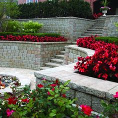 Planter on top of retaining wall
