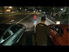 700whp tvs blown gt500 vs. turbo sn95 GT vs. All motor Foxbody on a slightly prepped road.  Edit: Info is coming out and the Orange Fox is auto, the turbo car is a 76mm. Sorry for any confusion.