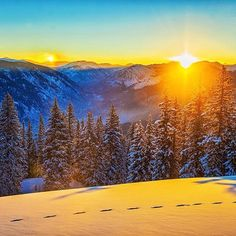 Amazing Colorado sunrise to start your Wednesday! Make it a great day! : @vitalfilms  #colorfulcolorado #goodmorning #colorado #aspen