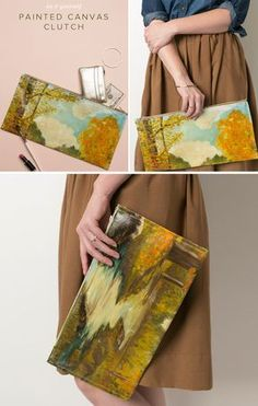Canvas Painting Clutch DIY | Camp Makery