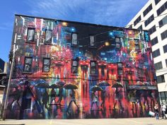 Moncton, Canada: nuovo muro dell'artista inglese Dan Kitchener aka DANK.