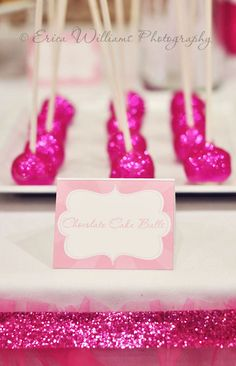 Edible Glitter Cake Pops--b-day treat!