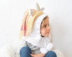 Crochet Unicorn Hood Pattern