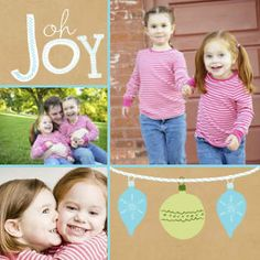 Mixbook Oh Joy Ornaments Holiday Photo Cards