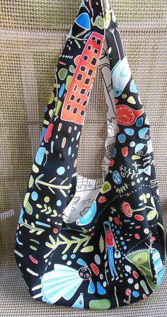 Hobo bag pattern, reversible bag, sling bag pattern, shoulder bag in IKEA fabric, slouch bag, beach bag, custom pattern via Etsy
