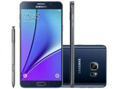 """Smartphone Samsung Galaxy Note 5 32GB Preto 4G - Câm. 16MP + Selfie 5MP Tela 5.7"""" Quad HD Octa Core"""