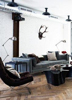 Rustic modern living