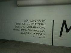 Gunnar Peterson's Gym -  garage wall.