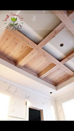 Image result for kitchen drop down wood ceiling