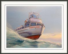 Battle On The Bay Framed Print By Wayne Enslow Artwork Prints, Framed Prints, Hanging Wire, Prints For Sale, Fine Art America, Battle, Acrylic Paintings