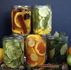Que tal montar recipientes com frutas, ervas e condimentos? Além de enfeitar a casa também perfuma o ambiente ;) #ficaadica