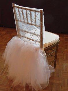 Brides chair at shower