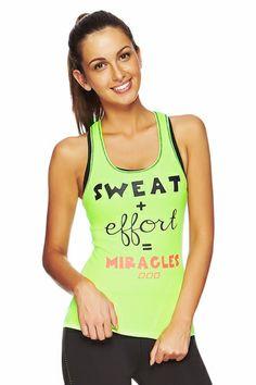 Sweat = Miracles Tank #ljwishlist