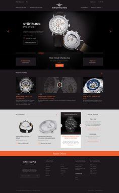 Stuhrling Homepage Design