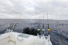 Kite fishing off of Pompano Beach with reels full of Momoi's Hi-Catch IGFA line.