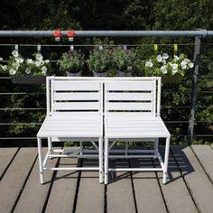 Esschert Design Magische Klappbank weiß   design3000.de
