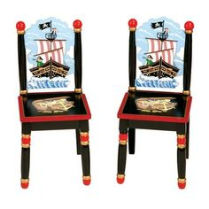 Guidecraft Pirate Extra Chairs by GuideCraft. Save 48 Off!. $58.49. Hoist the anchor and unfurl the Jolly Roger! The Pirate Chair Set from Guidecraft sets the theme for an adventure on the high seas! Bold colors create the perfect background for inspiring images of ships at full sail, treasure chests and mysterious maps where X marks the spot. These childrens chairs feature angled back legs, hardwood posts and steel hardware and are for use with the Pirate Table and Chair Set.