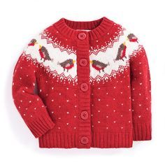 Girls' Robin Fair Isle Cardigan | JoJo Maman Bebe