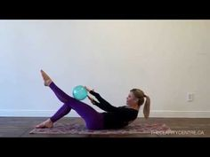 Pilates Workout with a Small Exercise Ball - YouTube