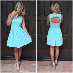 Double Bow It Babydoll Dress - Mint