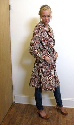 vintage jacket - ethnic boho tribal - vintage 60s - brocade coat. $76.00, via Etsy.