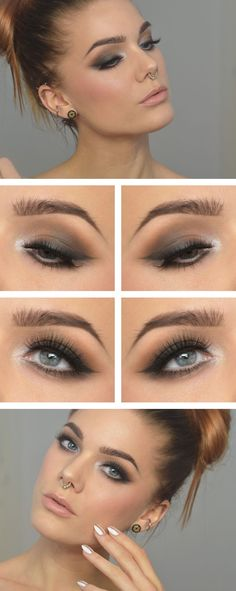 67 trendy makeup tutorial natural look linda hallberg Makeup Goals, Love Makeup, Makeup Inspo, Makeup Inspiration, Makeup Tips, Hair Makeup, Makeup Ideas, Cheap Makeup, Grey Makeup