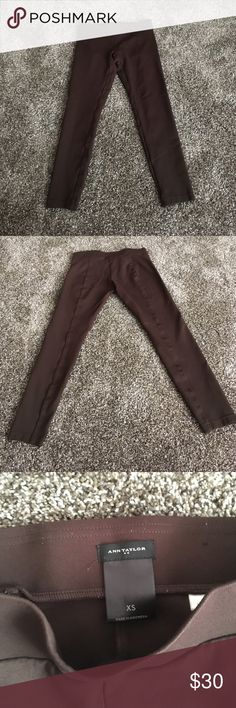 Brown dress/work leggings Comfy yet style-ish. Great for dinner date, or just a day at the office Ann Taylor Pants Leggings