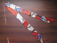 Ruby Red Silk Twilly Scarf Bag Tie Scarf  Rope by SummerMatcha