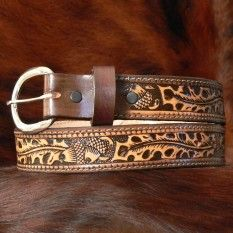 "Kids Brown Personalized Leather Belt 1 1/4"" - Texas Gold Minors - belts-buckles"