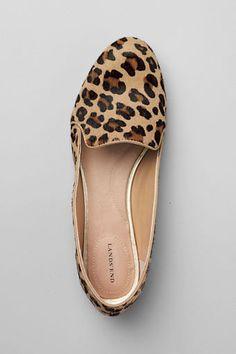 Women's Vivian Calf Hair Venetian Flat Shoes from Lands' End