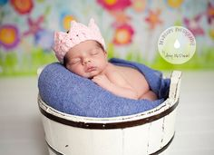 Baby Girl Crochet Crown  Baby Girl Princess by TwoLittleAngelsEtsy, $10.00
