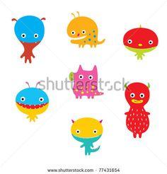 Resultados de la Búsqueda de imágenes de Google de http://image.shutterstock.com/display_pic_with_logo/440359/440359,1305674986,2/stock-vector-cute-monster-doodle-collection-77431654.jpg