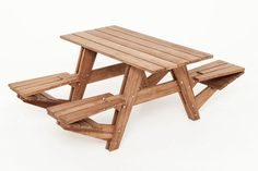 An Interchangeable Picnic Table with Seats that Flip Up to Form a Back | 32 Outrageously Fun Things You'll Want In Your Backyard This Summer