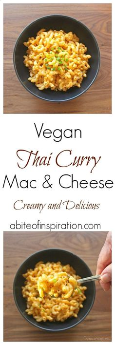 Try my Vegan Thai Curry Mac  Cheese recipe! Creamy, bold, and delicious! Easy to make and 100 percent plant-based!