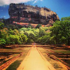 Sigiriya Rock in Dambulla is an ancient palace of king Kasyapa. Such a beautiful view of Sri Lanka from up top!