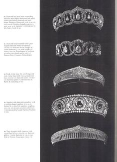 "ohsoromanov: ""  The Russian Cartier Tiaras """