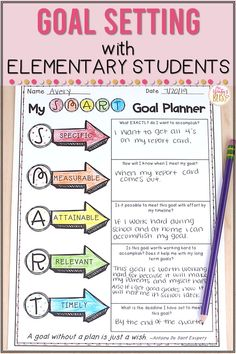 In a growth minded classroom student goal setting and reflection is routine practice. Even our youngest learners can have a clear understanding that a goal is just an area of weakness we need to strengthen and celebrate improvement! Help your students develop a growth mind set and set goals with these ideas and helpful lessons. By Mrs. Winters Bliss #growthmindset #elementarygrowthminset #goalsforelementary