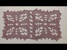 Узор для скатерти. Как вязать ажурный КВАДРАТ крючком. Crochet square - YouTube