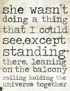 Sigh. :: Holding the universe together quote from JD Salinger