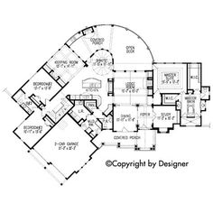 Cottage Country Craftsman French Country Southern Traditional House Plan 97603 Level One