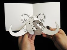 Mammoth pop-up book how-to  to go with Magic Tree House #7