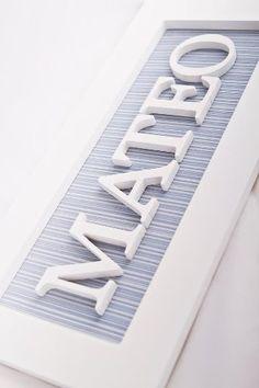 Marco Cuadro Cartel Con Nombre Del Bebe Nacimiento Nene Nena - $ 190,00