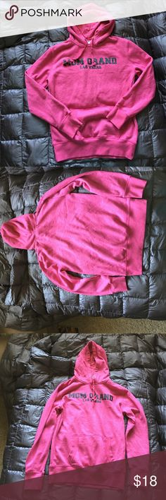 Pink sparkly small ladies sweatshirt Pink sparkly ladies small sweatshirt. Features Las Vegas popular MGM grand on the front. In like new condition with little aware if any. Please see photos for best description of this item. Tops Sweatshirts & Hoodies