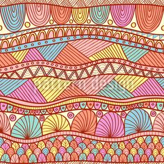 """Buy the royalty-free Stock vector """"Bright ethnic seamless in indian henna style"""" online ✓ All rights included ✓ High resolution vector file for print, w. Free Vector Images, Vector Art, Vektor Muster, Retro Typewriter, Indian Henna, Henna Style, Watercolor Painting Techniques, Picture Icon, Retro Background"""
