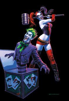 Mad Love, Greg Hildebrandt Der Joker, Joker Und Harley Quinn, Joker Art, Comics Girls, Dc Comics, Comic Book Villains, Joker Playing Card, Harely Quinn, Female Villains