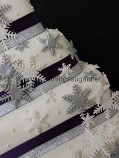 Wedding Cakes - Snowflake winter wedding cake