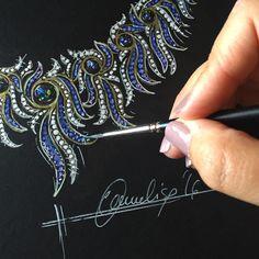 annalisadf#jewellerydrawing #diamond #sapphire #opal #highjewelry #jewellery #jewellerydesign #jewellerydesigner #hautecouture #hautejoaillerie #love #sketch #passion more @ www.annalisadifelice.com