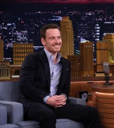 Sooooo adorable!!!!! :) Michael Fassbender on The Tonight Show with Jimmy Fallon 5.8.14