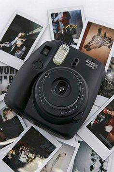 Shop Fujifilm Instax Mini 8 Black Camera at Urban Outfitters today. Poloroid Camera, Instax Mini Camera, Fujifilm Instax Mini 8, Polaroid Camera Fujifilm, Instax 8, Film Polaroid, Donna Karan, Fred Instagram, Disney Instagram