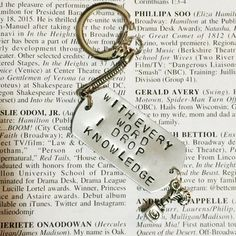 Hamilton The Musical My Shot Stamped Charm Keychain by Westeros